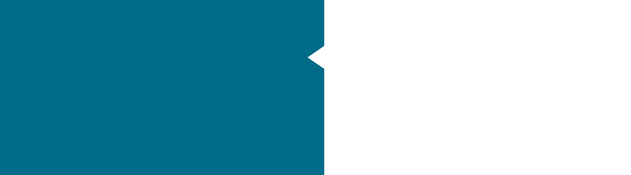 teal colour block with cutout